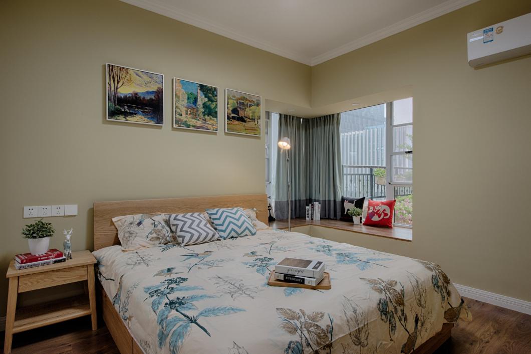 90平北欧风卧室装修效果图