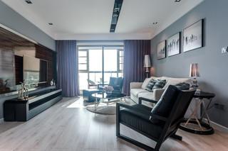三居室现代简约风格客厅装修效果图