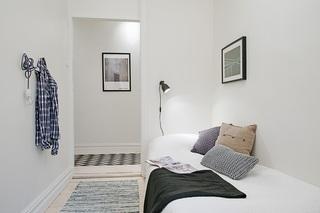 118平米白色公寓卧室装修效果图