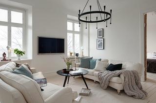 118平米白色公寓客厅装修效果图