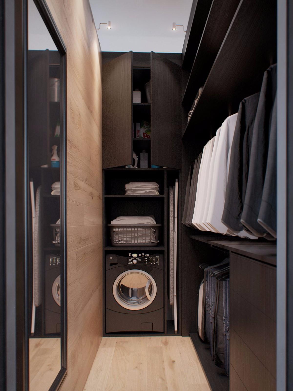 一居室简约风公寓衣帽间装修效果图