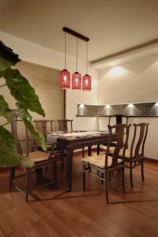 135平古朴中式风格餐厅装修效果图