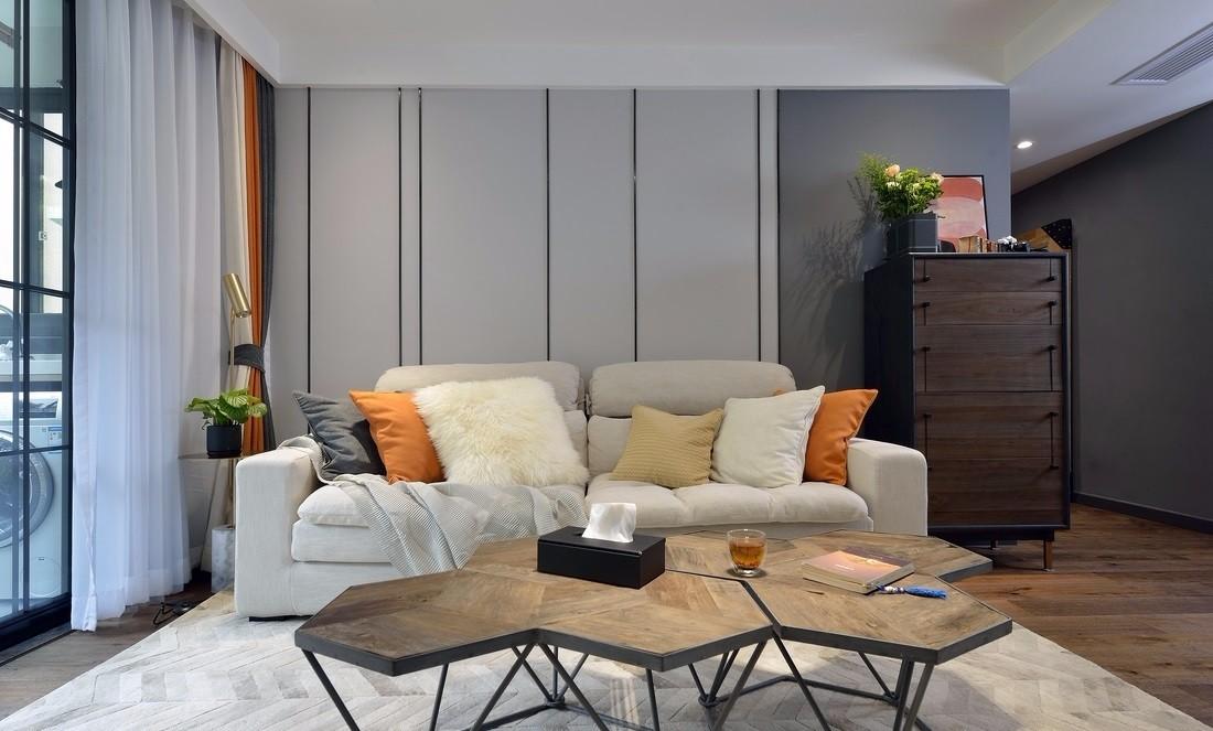 现代简约风格两居室装修设计图