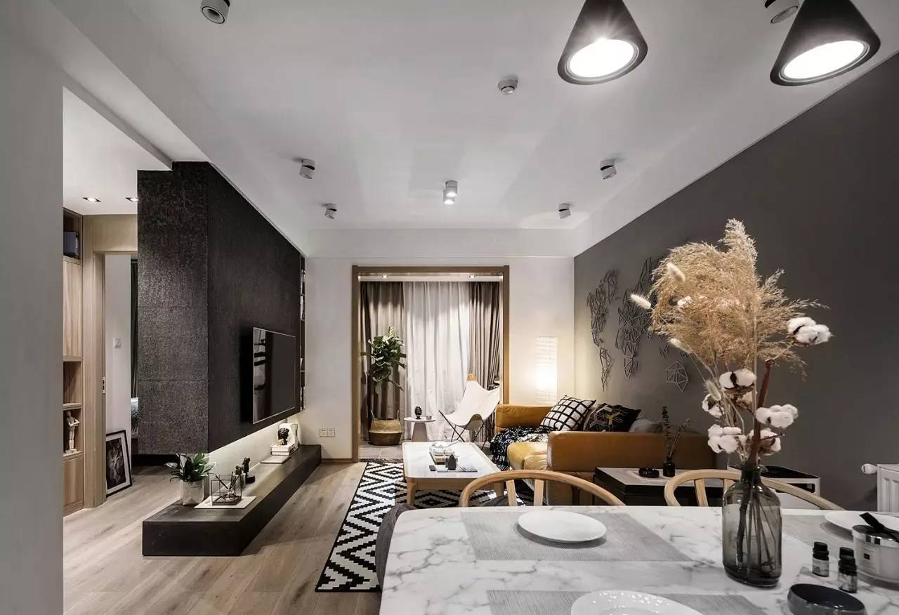 现代简约风二居室装修设计图