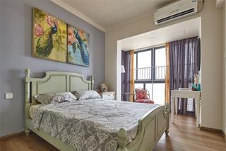 80平米混搭风格卧室装修效果图