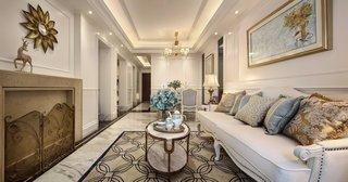 欧美风格三居室客厅装修效果图
