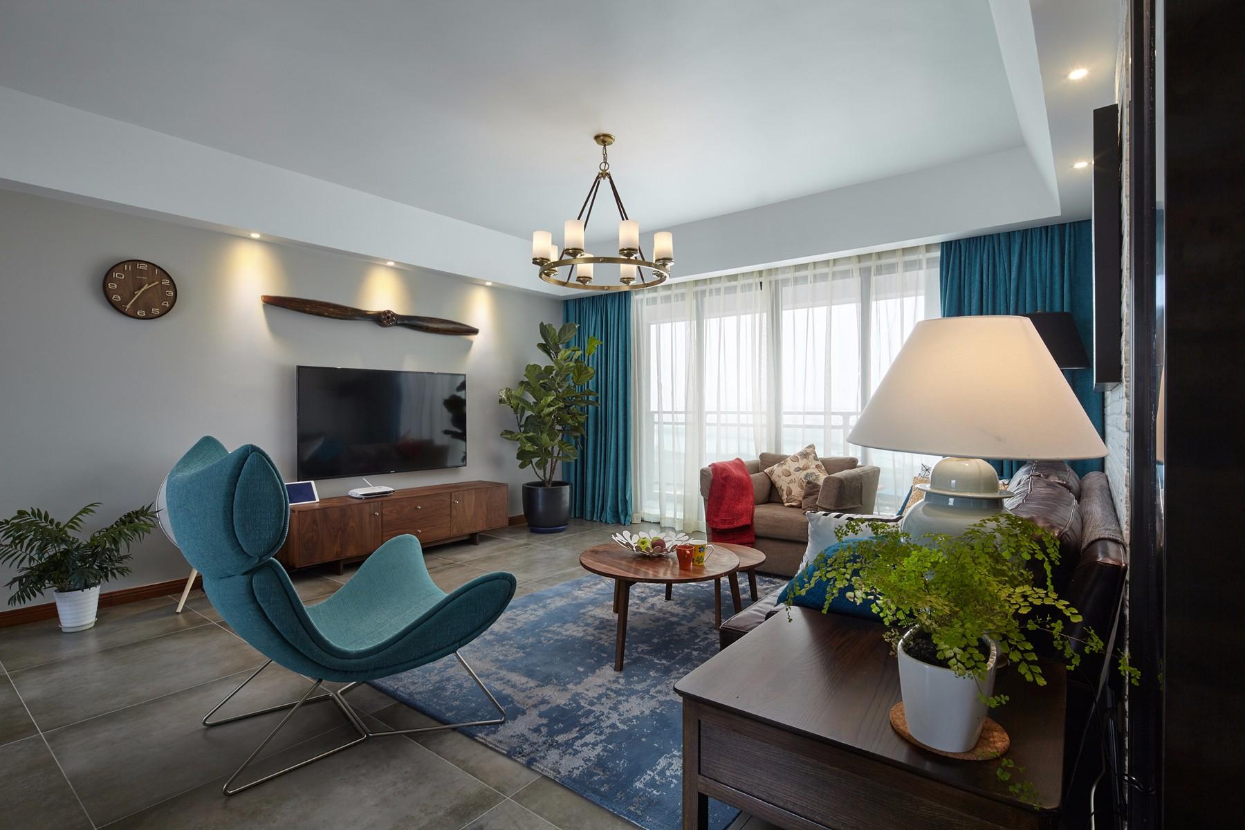 185平米混搭风格客厅装修效果图
