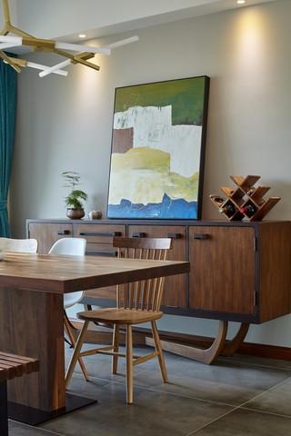 185平米混搭风格装修餐边柜设计图