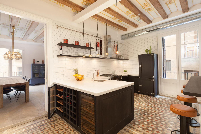 北欧混搭风格三居厨房装修设计图