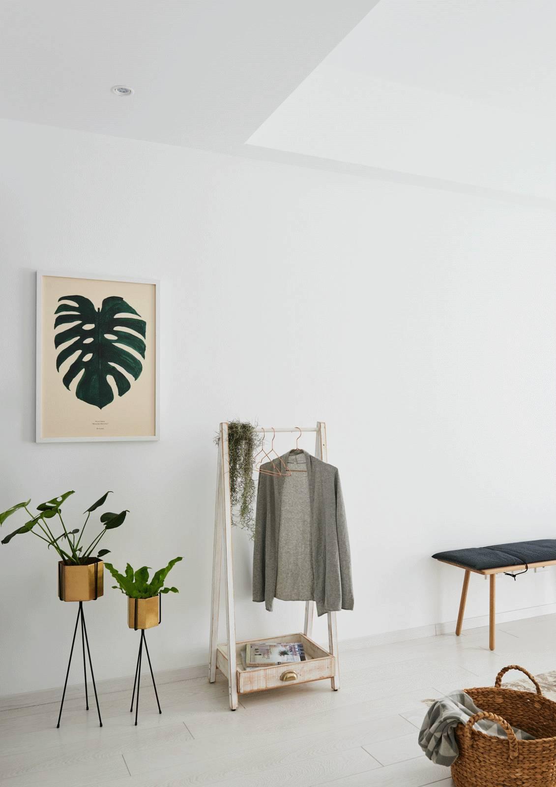 简约北欧二居室公寓装修衣架设计图
