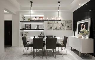 130平现代混搭餐厅装修效果图