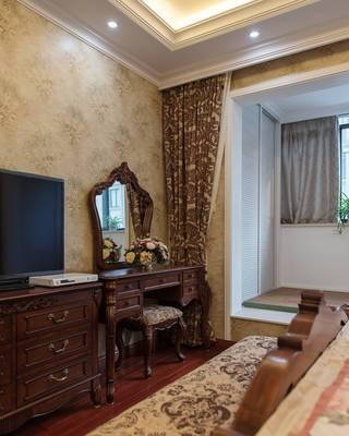 美式古典别墅装修梳妆台设计图