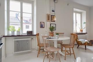 小户型白色北欧风公寓餐厅装修效果图