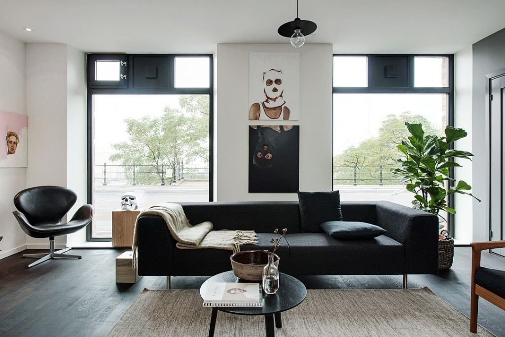北欧风公寓客厅装修效果图