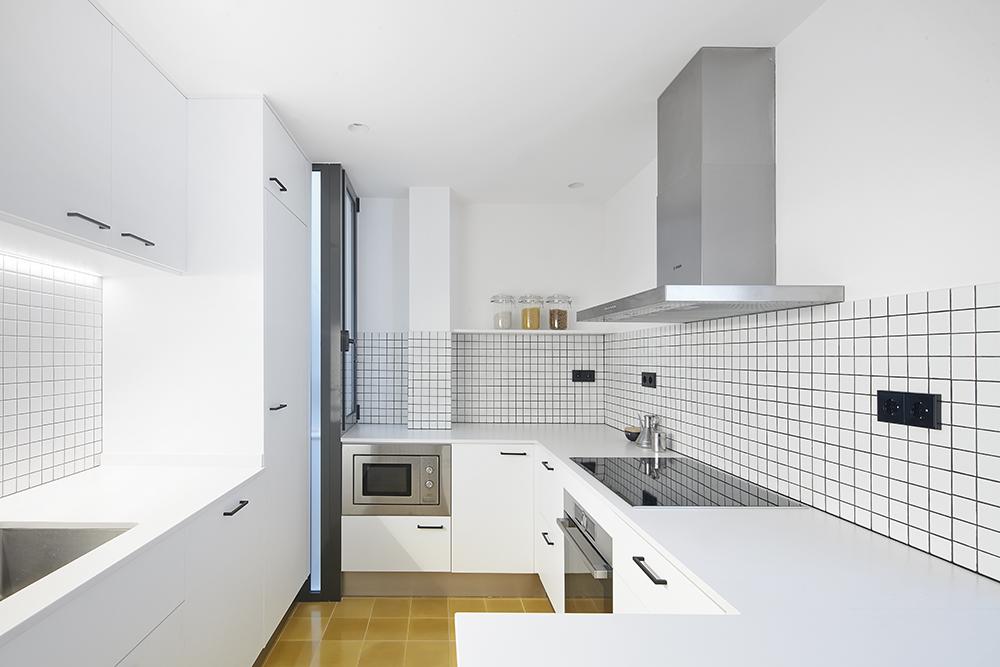 80㎡极简风公寓厨房装修效果图
