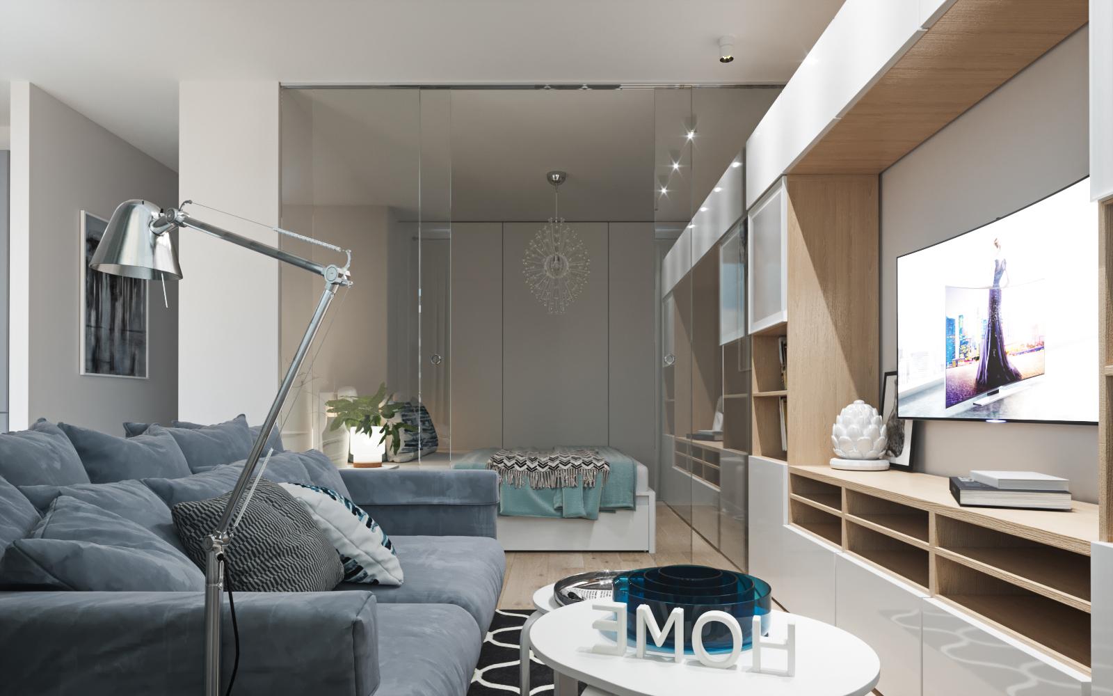 小户型宜家风公寓客厅装修效果图