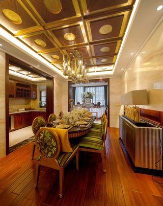 大户型东南亚风格餐厅装修效果图