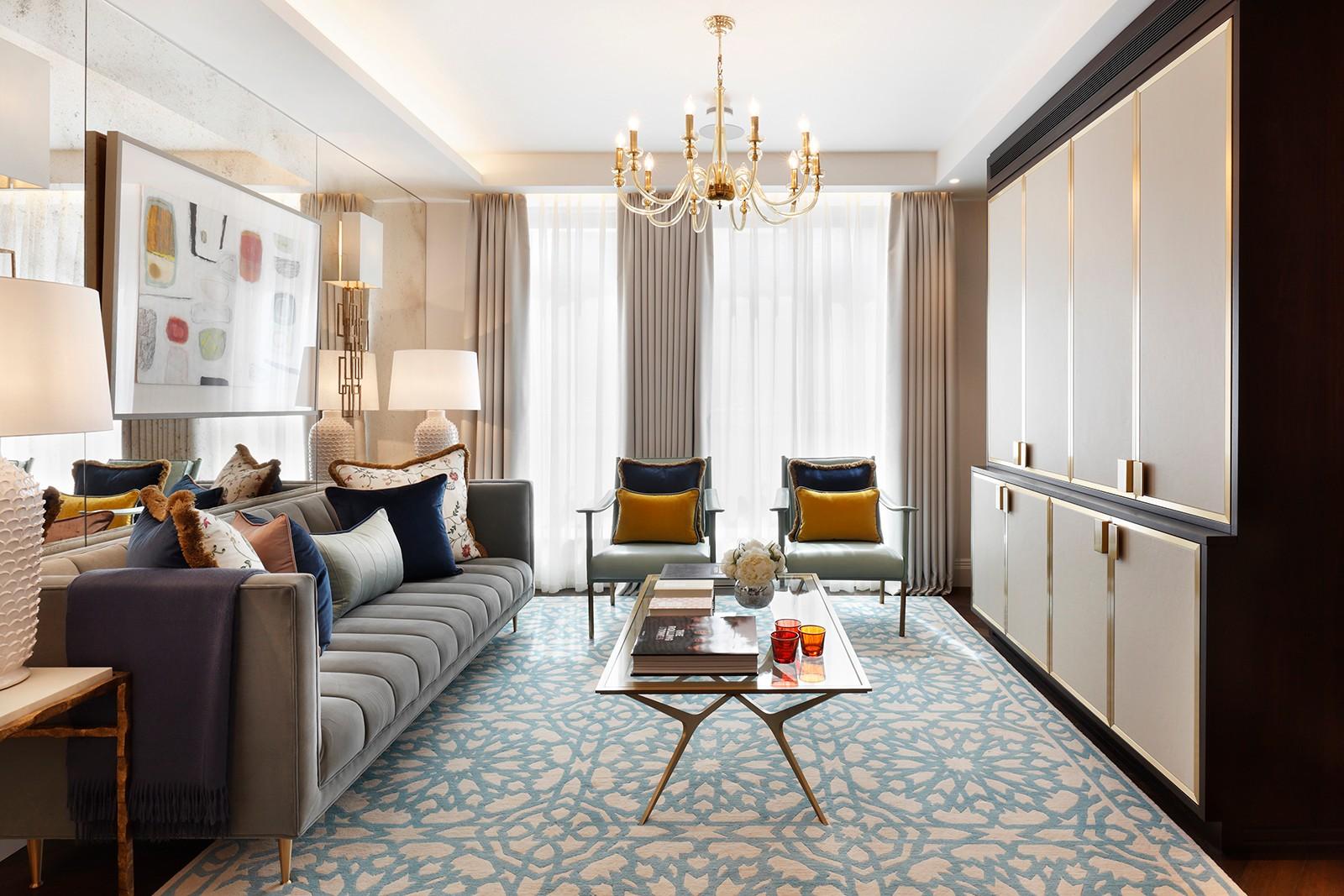 优雅英式公寓客厅装修效果图