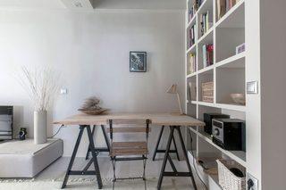 白灰色现代公寓工作区装修效果图