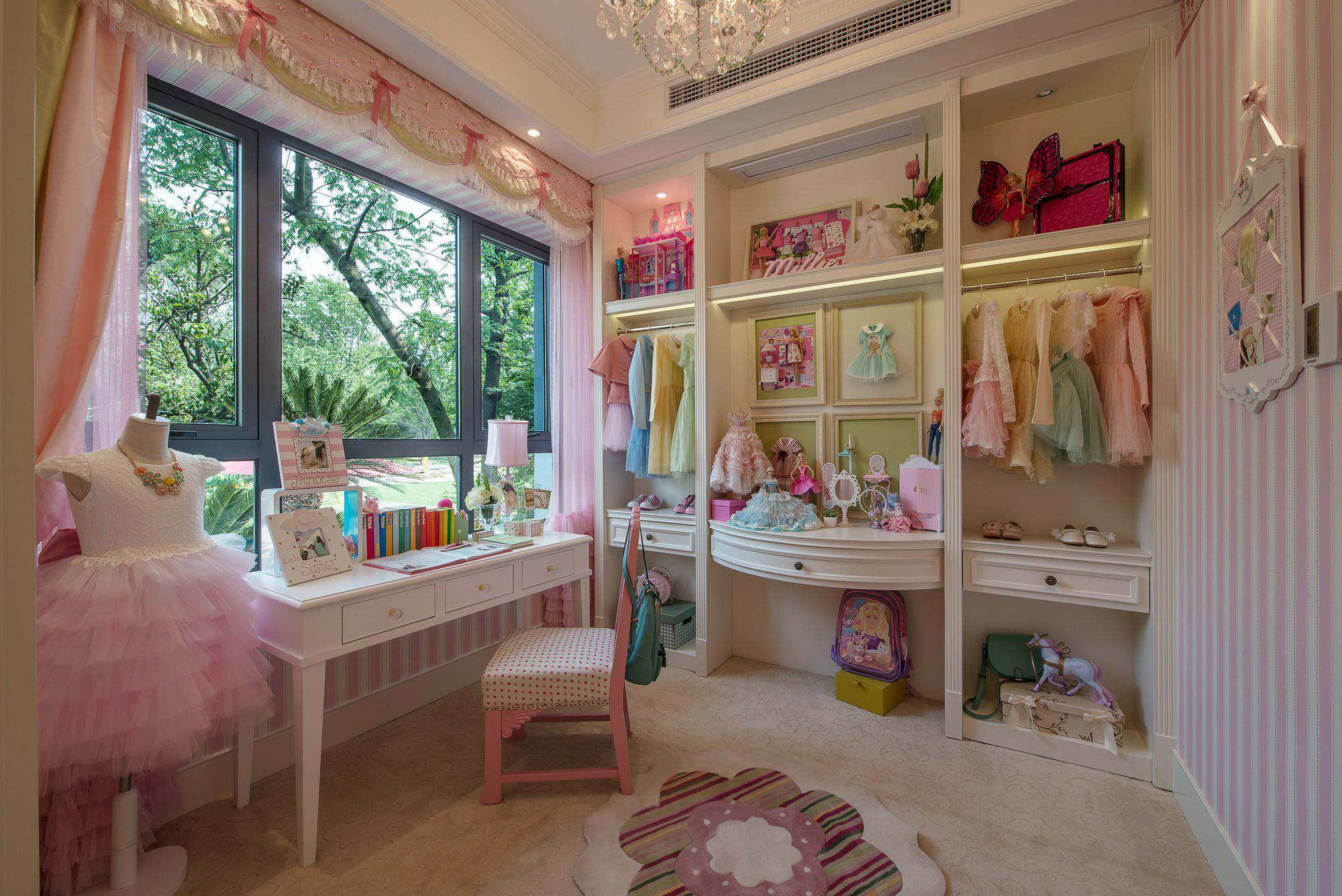 豪华美式风格别墅儿童房装修效果图