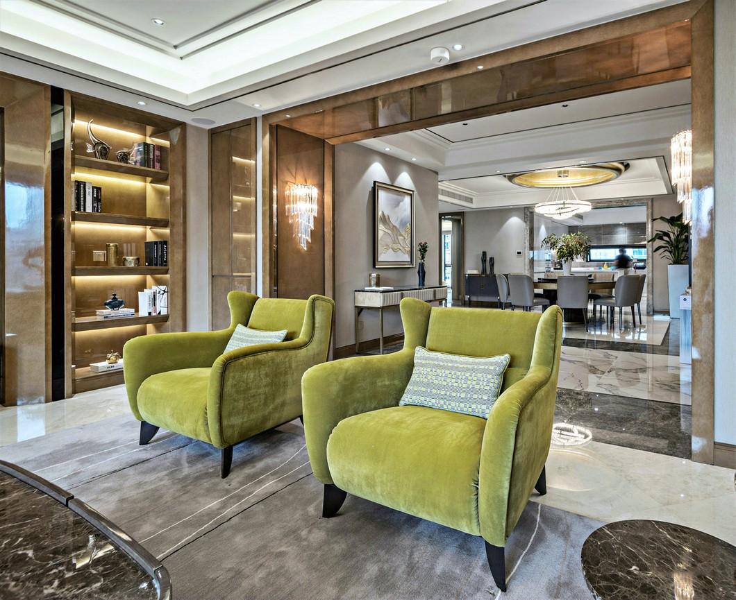 420㎡现代奢华别墅装修沙发椅设计图