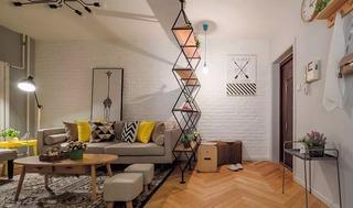 两居室北欧风格玄关隔断装修效果图