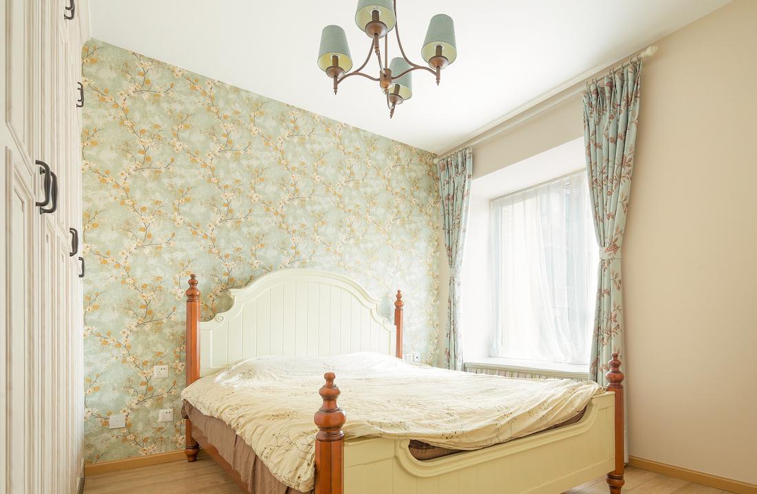 89㎡美式田园风格卧室装修效果图