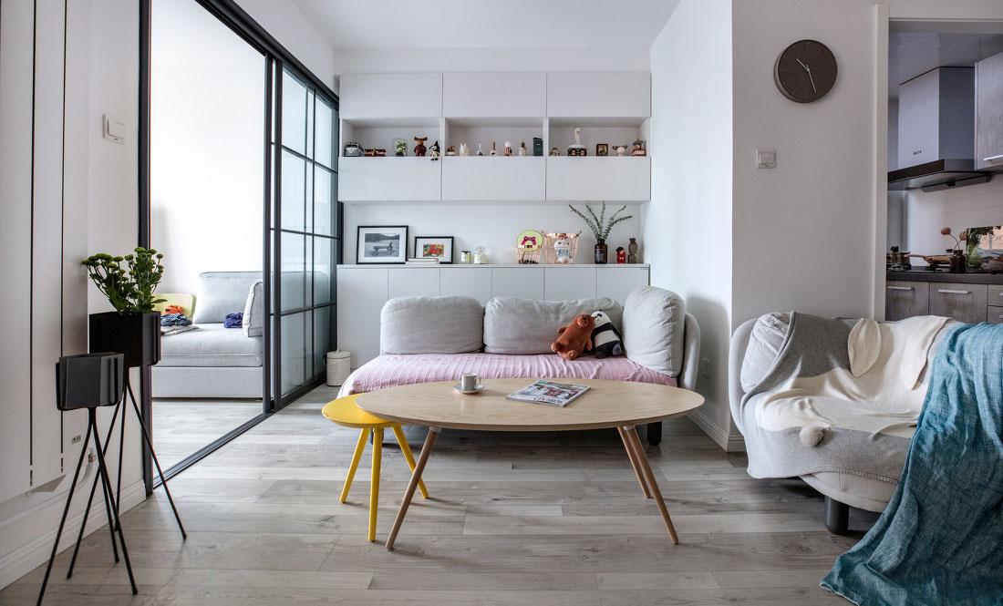 北欧风格两居室装修设计图