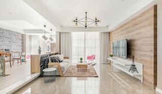 135平现代北欧风格客厅装修效果图
