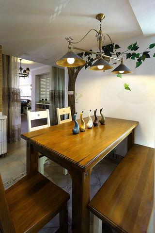 混搭风格三居室餐厅装修设计图