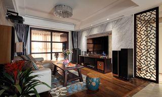 新中式风格三居客厅装修设计图