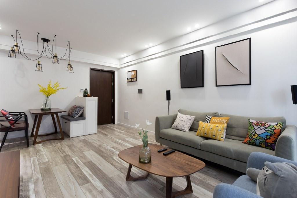 100平北欧风格沙发背景墙装修效果图