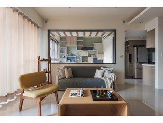 116㎡现代风格沙发背景墙装修效果图