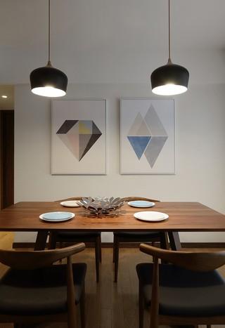 200㎡简约风格装修餐桌椅设计图