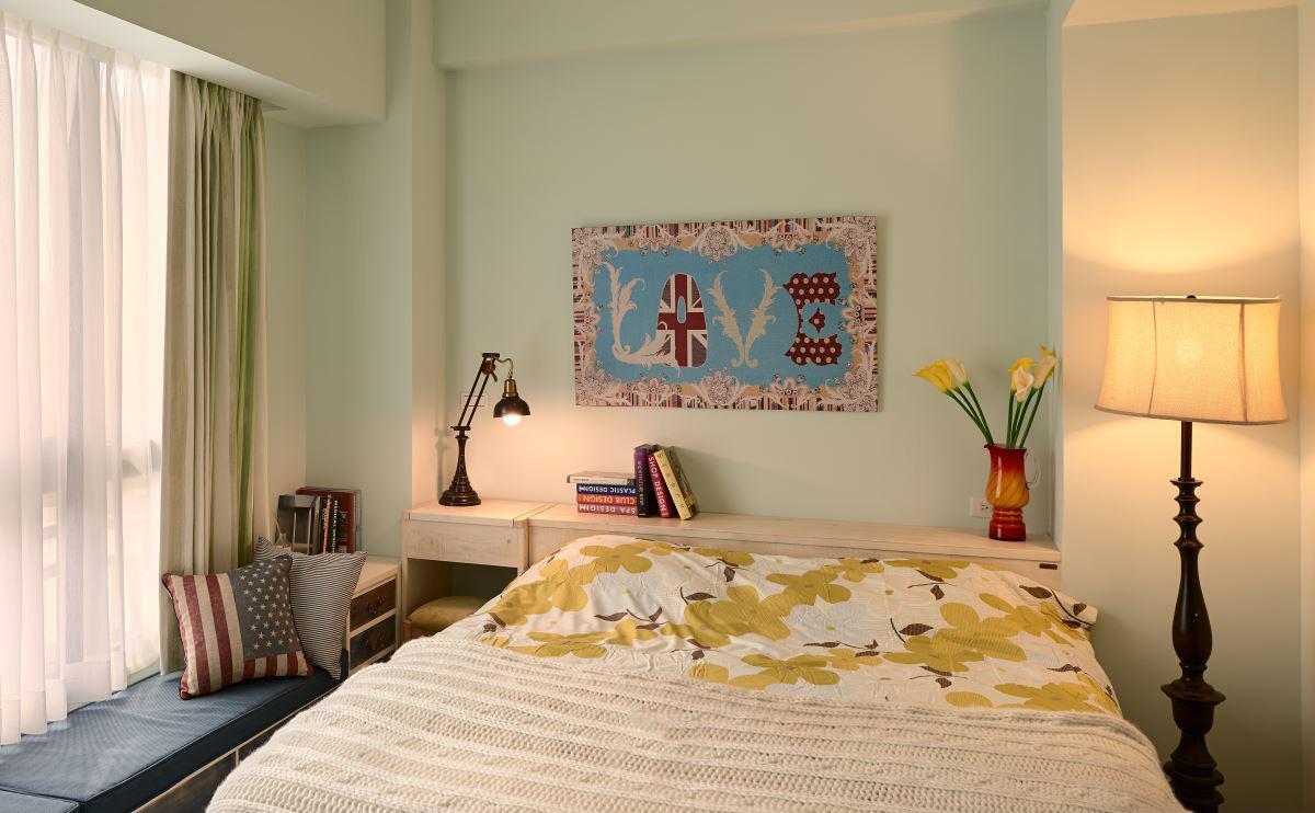 二居室混搭风格卧室装修效果图