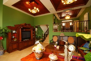 东南亚风格别墅客厅每日首存送20