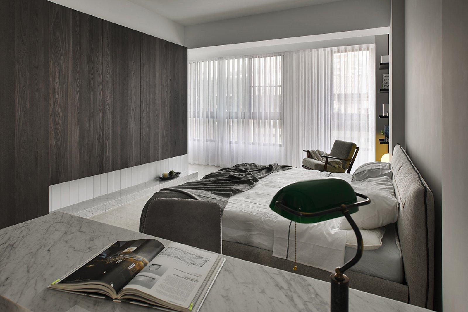 165平米现代风格卧室装修效果图
