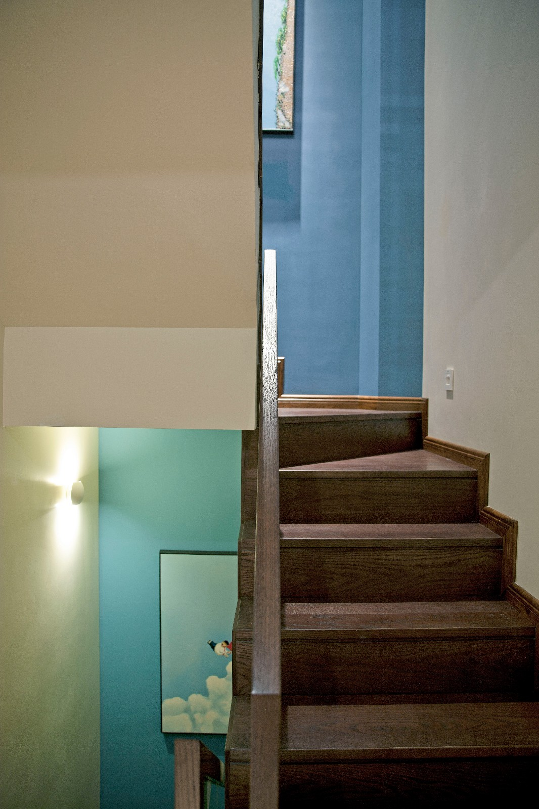 现代中式混搭别墅楼梯装修效果图