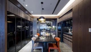 118㎡现代风格厨餐厅装修效果图