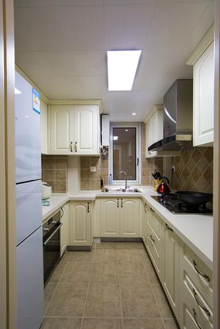 90㎡美式三居厨房装修效果图
