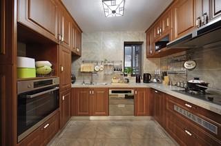 150㎡新中式风格厨房装修效果图
