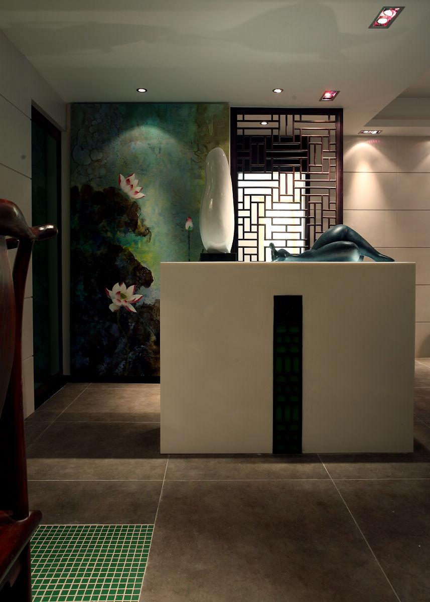 新中式古典风格玄关装修效果图