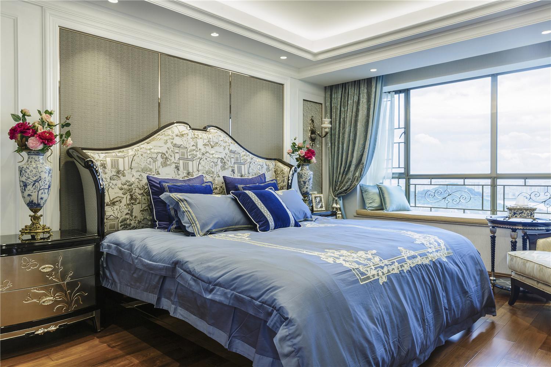 大户型中式新古典风卧室装修效果图