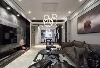 130㎡现代简约客厅装修效果图