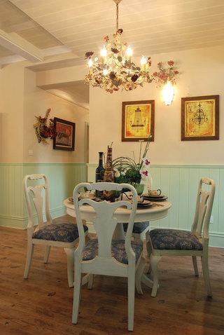 三居室田园风格餐厅装修效果图