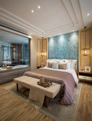 新中式风格四居卧室装修效果图