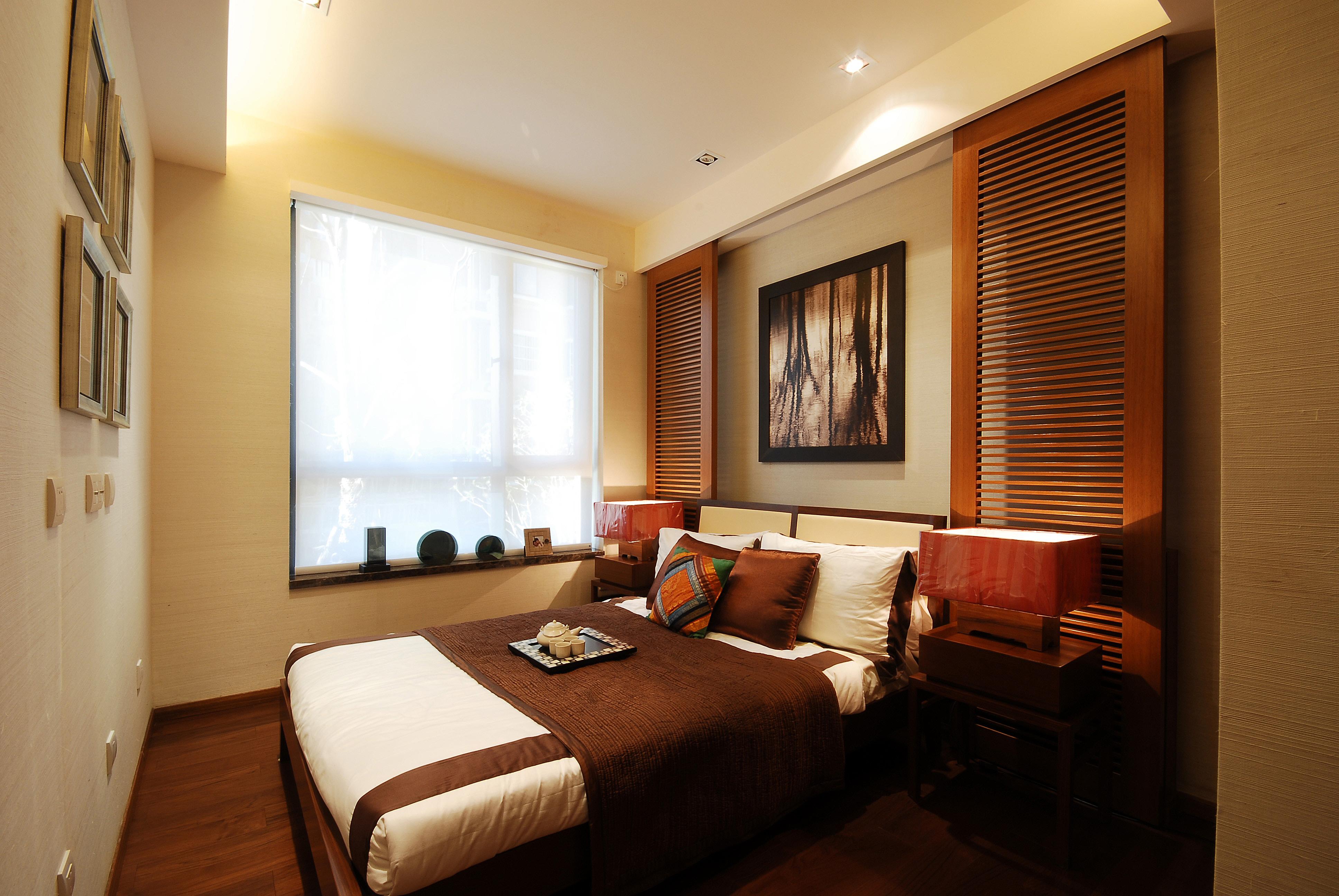 现代中式别墅卧室装修设计效果图