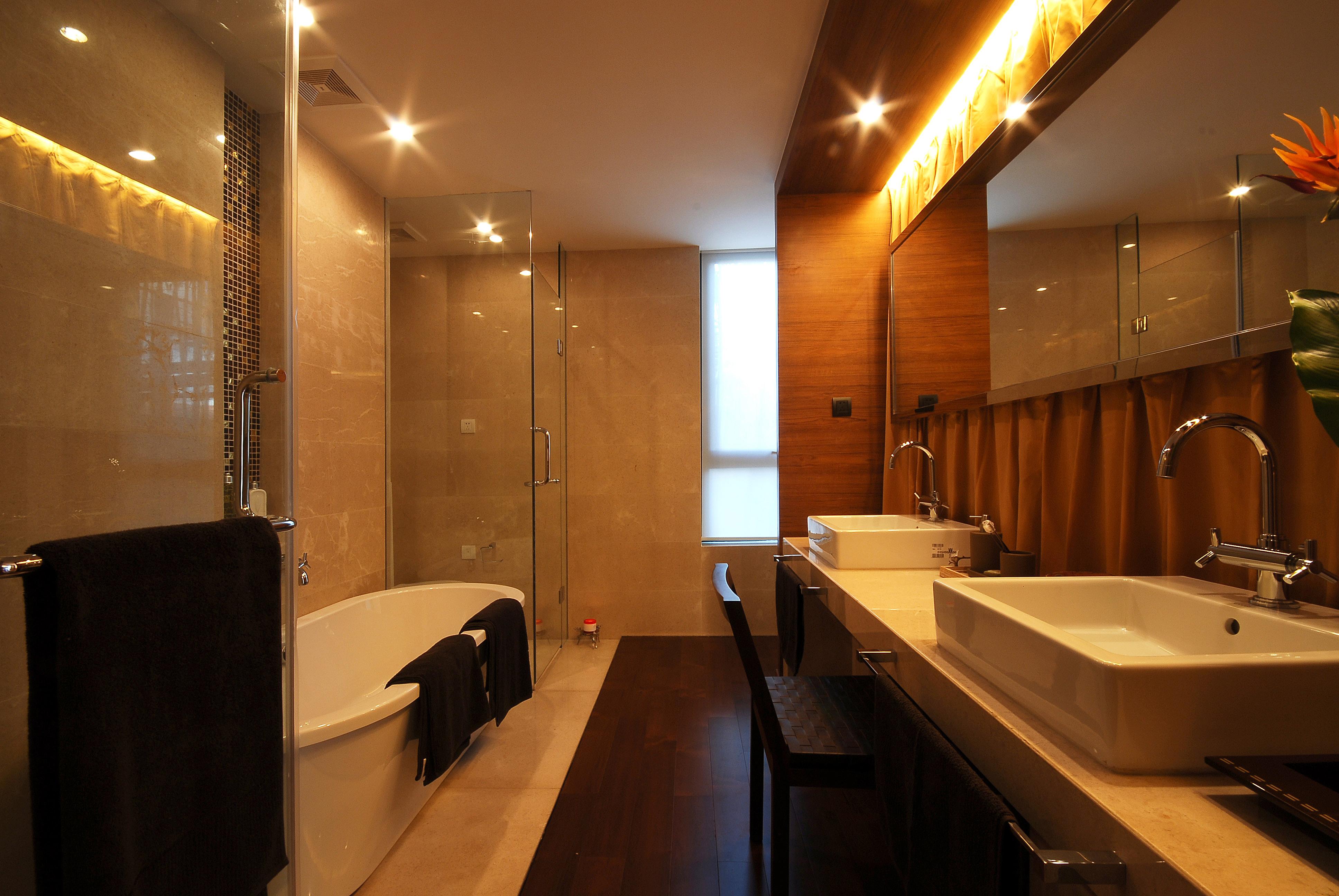 现代中式别墅卫生间装修设计效果图