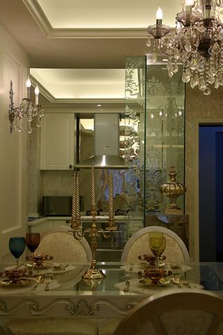 欧式风格三居室厨房装修效果图