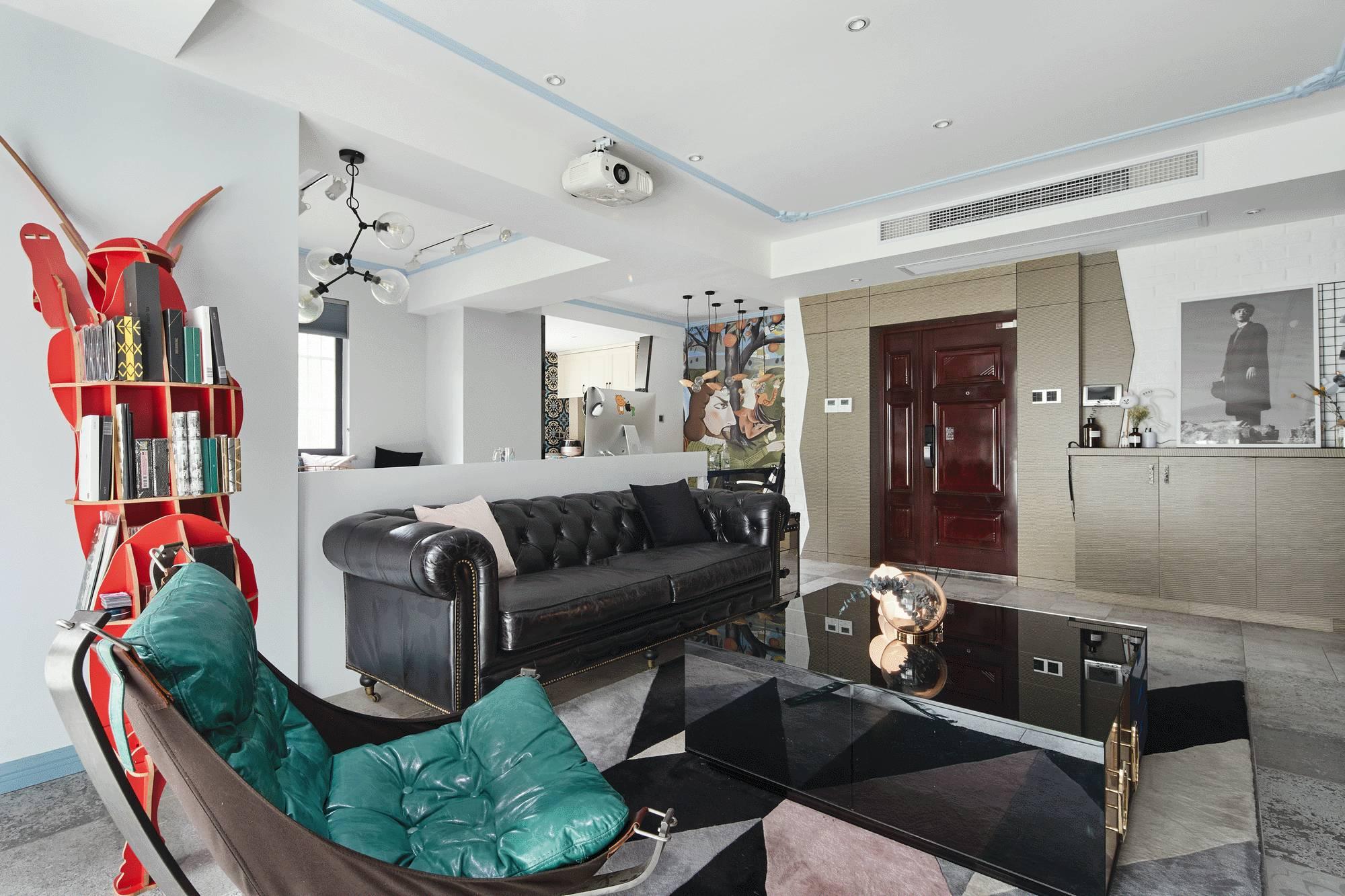混搭风格三居客厅装修设计图